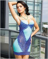 Microfiber chemise with push-up cups CQ-7028