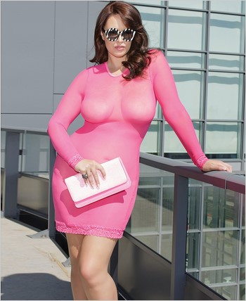 Long sleeve mesh dress CQ-7033X