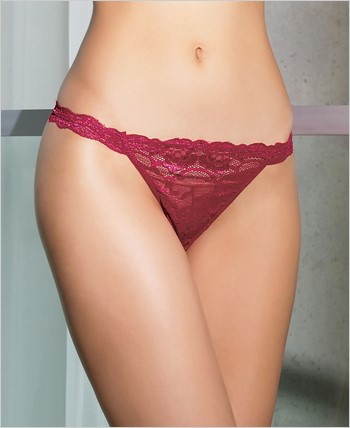 Mesh and lace panty CQ-7036