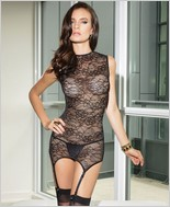 Reversible stretch lace chemise CQ-7046