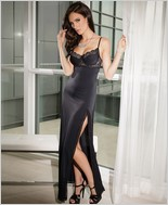 Microfiber gown with soft underwire cups CQ-7049