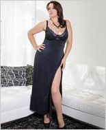 Microfiber gown with soft underwire cups CQ-7049X