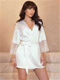 Satin and Lace Robe CQ-7142