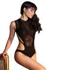 High Neckline Teddy with Bare Back CQ-7156