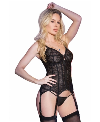 Bustier with Front Zipper Closure CQ-7163