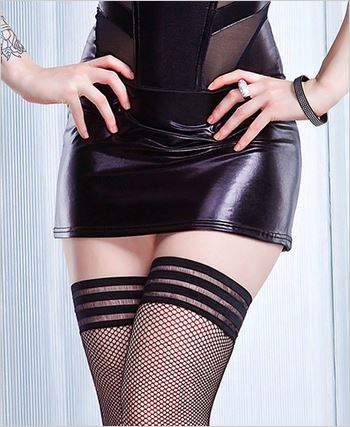 Black Wetlook Skirt