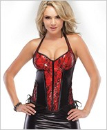 Red Wetlook Bustier