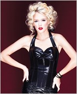 Wetlook Halter Bustier