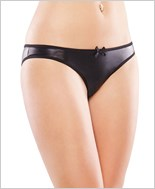 Plus Size Wetlook Crotchless Panty