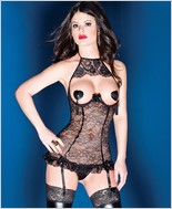 Lace Cupless Underwire Chemise CQ-D9281