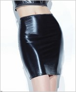 Wet Look High Waisted Mini Skirt CQ-D9297