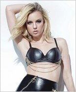Matte Wet Look Underwire Bra with Chain Detail CQ-D9317