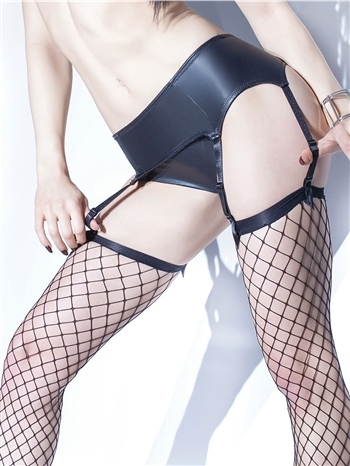 Matte Wetlook Garter Belt CQ-D9353