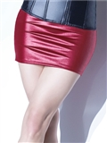 Matte Wetlook Mini Skirt CQ-D9356