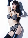 Bra, Garter Belt, G-String Set CQ-D9362