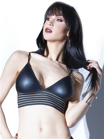 Matte Wetlook Triangle Bralette CQ-D9371