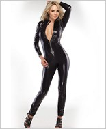 Szipper Front Wetlook Catsuit