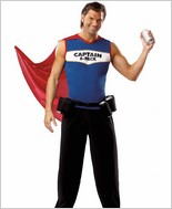 Captain 6 Pack Men's Halloween Costume CQ-M18