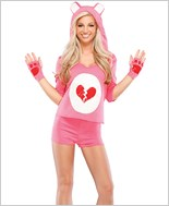 Heart Broken Bear Adult Costume
