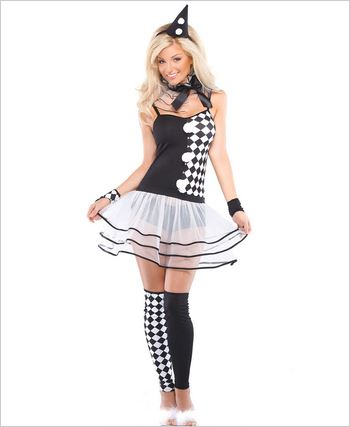 Harlequin Clown Sexy Adult Costume