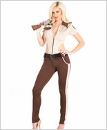 Sheriff Jumpsuit Costume Set CQ-M6202-Tan-Brown