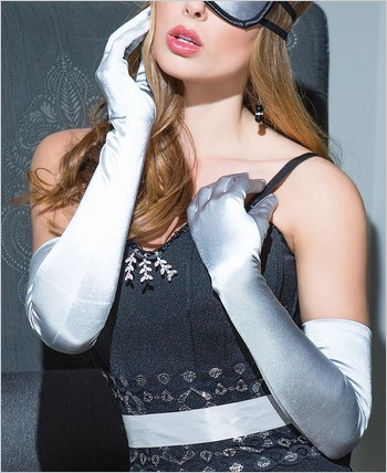 Satin Lycra Gloves CQ-SB1705