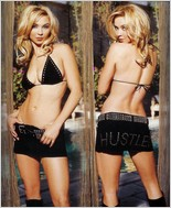 "Hustler® ""Hustler"" Suede Bra And Skirt Set HL-8011"