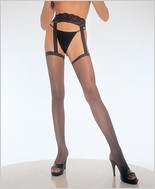 Leg Avenue® Fishnet Thigh High With Lace Garter Belt LA-1656