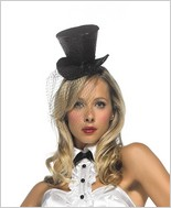 Leg Avenue® Mini Top Hat With Veil LA-2063