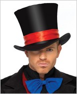 Deluxe Men'S Velvet Top Hat LA-2143