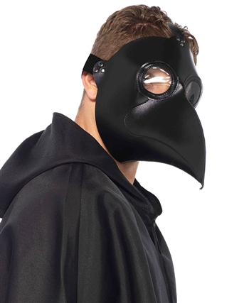 Faux Leather Plague Doctor Mask LA-2157