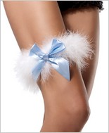 Leg Avenue® Marabou Garter With Satin Bow LA-2358