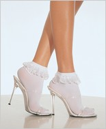 Leg Avenue® Anklets With Lace Ruffle LA-3013