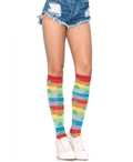Acrylic Rainbow Clover Knee High Socks LA-5212