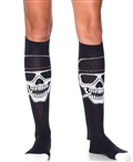 Biker Babe Skeleton Knee High Socks LA-5603