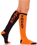 Trick or Treat Acrylic Knee High Socks LA-5607