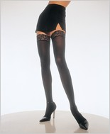 Leg Avenue® Opaque Thigh High With Lace Top LA-6258