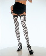 Leg Avenue® Checkerboard Thigh Highs LA-6281