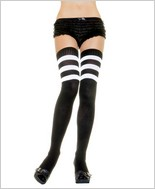 Leg Avenue® Athletic Ribbed Thigh Highs LA-6605