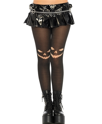 Jack O'Lantern Opaque Tights LA-7740
