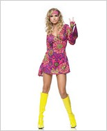 Leg Avenue® Hippie Girl Print Dress LA-83048