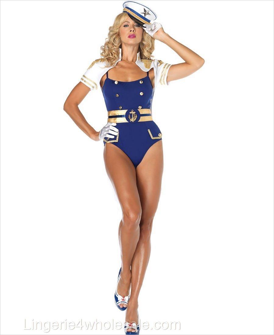 8879af1d397 Curvaceous Captain Costume LA-83764