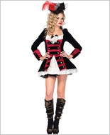 Charming Pirate Captain Costume LA-83792