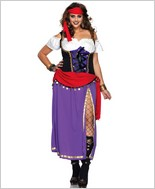 Traveling Gypsy Adult Costume - Plus Size LA-85014X