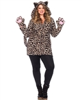 Plus Size Cozy Leopard Halloween Costume LA-85313X