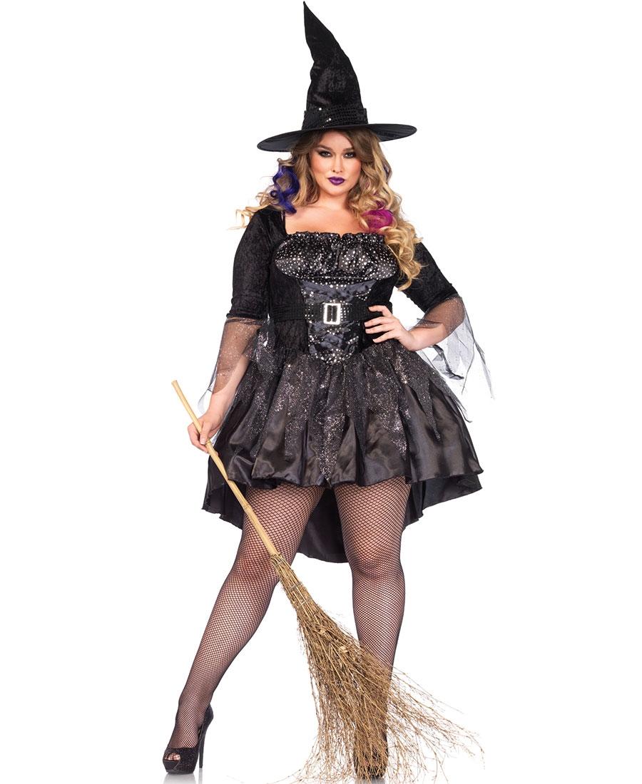 e0c09ff0c6c Plus Size Black Magic Mistress Halloween Costume LA-85475X