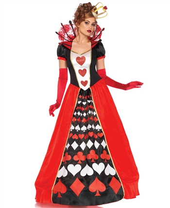 Deluxe Queen of Hearts Halloween Costume LA-85593
