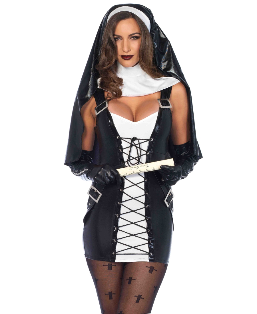 naughty nun halloween costume la-85609