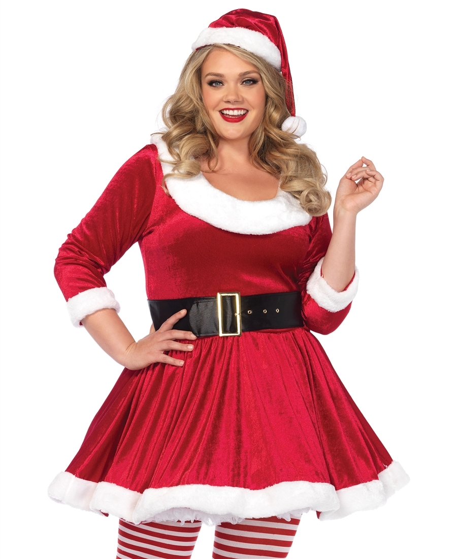7fec3b968c8 Plus Size Santa Sweetie Christmas Costume LA-86615X