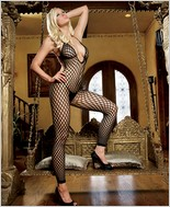 Leg Avenue® Halter Crochet Net Footless Bodystocking LA-89035
